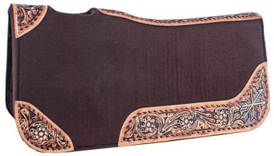 Showman Brown Felt Pad Flowers and Arrows
