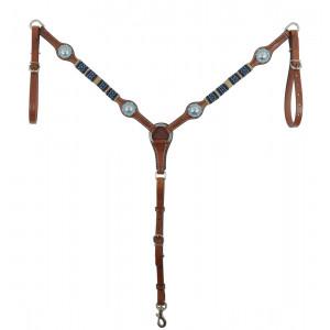 Country Legend Rawhide Turquoise Beads Breastcollar / Borsttuig (medium oil)