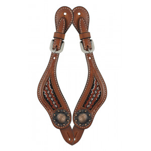 Country Legend Rawhide Terra Beads Spurstraps / Sporenriempjes (medium oil)
