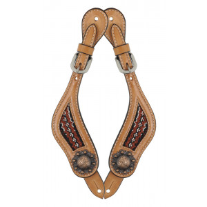 Country Legend Rawhide Terra Beads Spurstraps / Sporenriempjes (light oil)