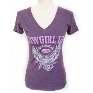 Cowgirl Up Shirt Purple