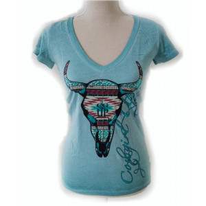 Cowgirl Up Shirt Turquoise