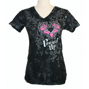 Cowgirl Up Shirt Zwart