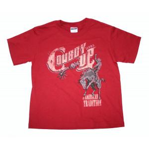 Cowboy Up Shirt Rood