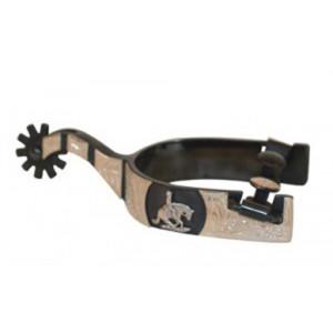Francois Gauthier Sporen Black Steel Zilverbeslag Reining Horse by Metalab
