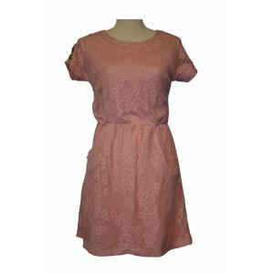 Gehaakte jurk Rozenhout