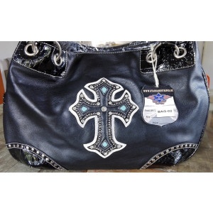 Cowgirl Bag Stars & Stripes Black