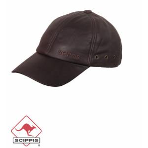 Baseball Cap / Pet Scippis van leer in bruin of zwart