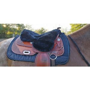 Seat Cover (zadelzitting) van  EDIX voor Westernzadels Merino wol  *diverse kleuren*