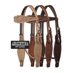 Showman Argentina Leather Flower Tooled