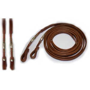 Teugels Silver Pipes and Rawhide Harness Leather