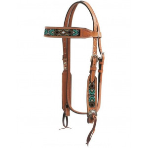 Showman Beaded Browband Indian Style
