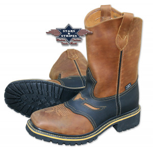 Stars & Stripes Work Boots Steel Toe